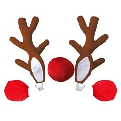 Coarne cu urechi si nas de ren 3D accesorii auto de sarbatori marca FixAuto®